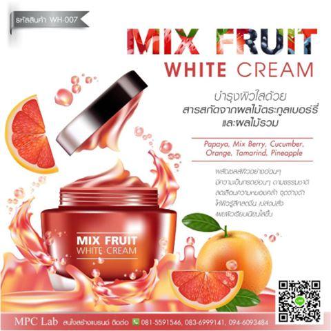 รับผลิต mix fruit white cream